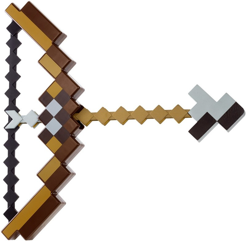 Minecraft toy pixel Mosaic Minecraft bow and Arrow Sword pickaxe set of plastic assembled set of children's toy game игрушечное оружие mattel minecraft enchanted bow and arrow