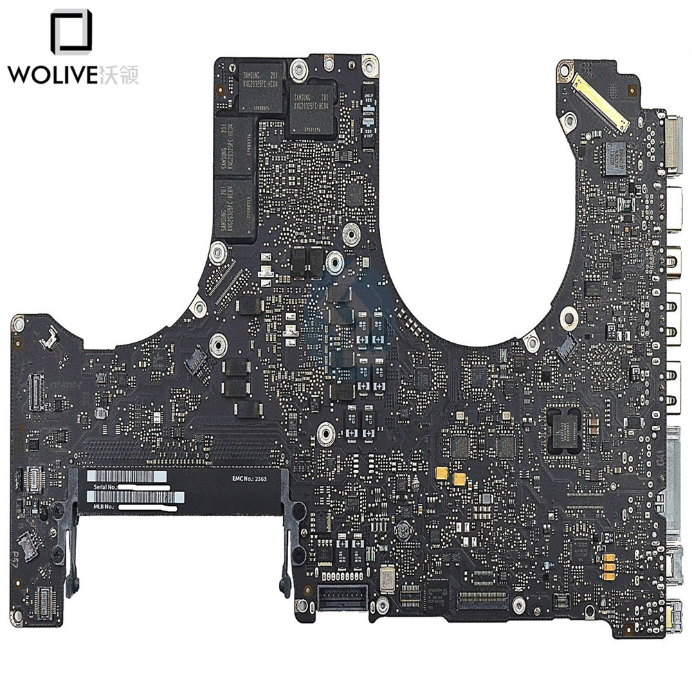 laptop Logic Board For MacBook Pro 15 A1286 Motherboard 820-2915b 631 0347 m40a mlb 820 1900 a oem logic board 1 83 t2400 ghz for m mini a1176 emc 2108 ma608 gma 950 64m