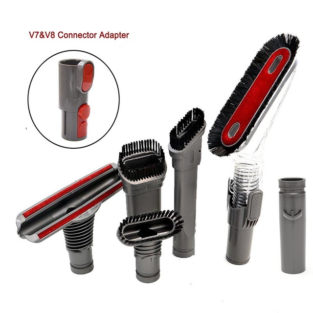 Vacuum Cleaner Part suitable for Dyson V8 V7 V6 DC58 DC59 DC61 DC62 Replacement Accessories Washable Brush Heads Kit  7 pcs