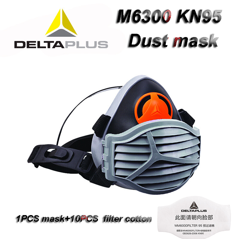 DELTAPLUS M6300 Respirator Dust Mask KN95 Efficient Anti-static Filter PM2.5 Protective Mask CE Certification The New Gas Mask