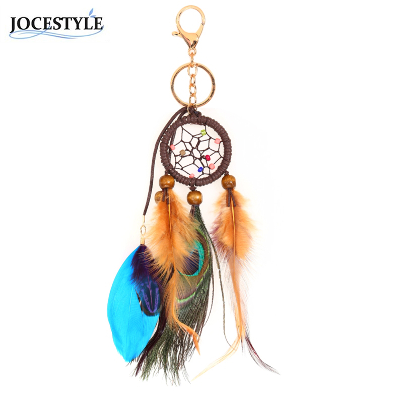 Classical Hot Sale Handmade Dreamcatcher Feathers Car Wall Gift Keychain Dream Catcher Key Rings Trinket maluokasa 1pcs handmade indian dream catcher net with feathers wind chimes wall hanging dreamcatcher car ornaments decoration