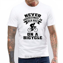 f6be5d32 6tn Mens Never Underestimate An Old Guy On Bicycle Funny Cyclist T Shirt  euro size