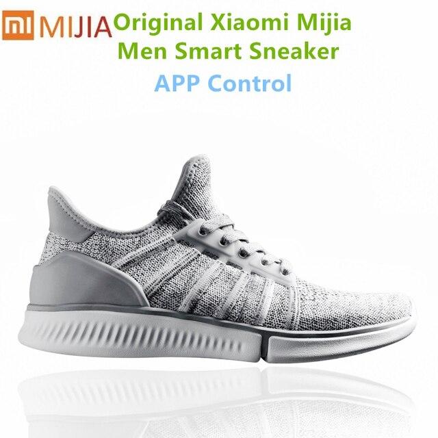 Original Xiao mi mi jia Homens Ágil Respirável Air Mesh mi smart APP Smart Sneaker tênis Esportes sapatos Ao Ar Livre masculino tênis de corrida