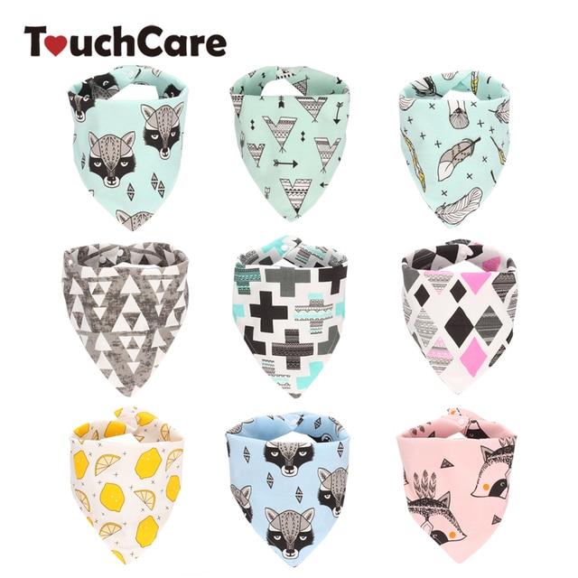 Touchcare Infant Printing Waterproof Neckerchief Bandana 2 Layers Triangle Baby bibs 44*24cm Newborn Toddler Bib Baberos
