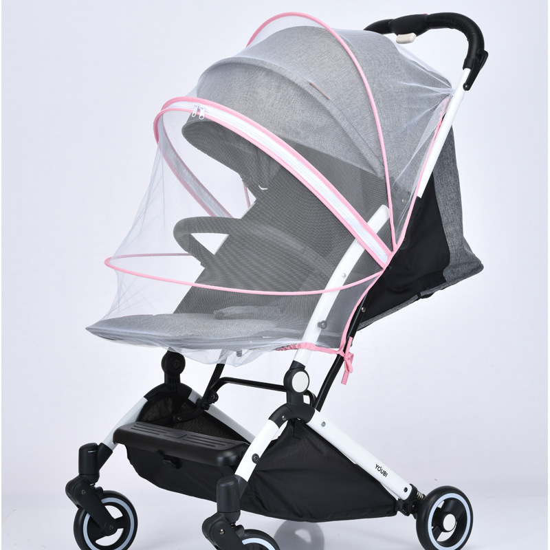 Baby Universal Stroller Mosquito Net Thickened Stroller Pushchair Mosquito Insect Net Full Cover Custom Mosquito Nets(China)
