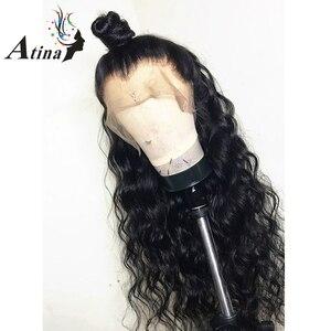 Image 3 - מים גל 13X6 תחרה מול שיער טבעי פאות לנשים שחורות מזויף קרקפת עמוק 360 תחרה פרונטאלית פאה רמי סגירת HD שקוף תחרה