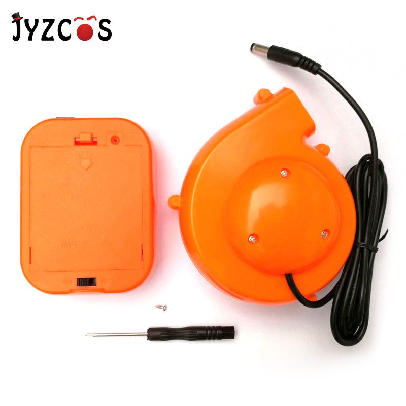 JYZCOS Mini Fan Blower för uppblåsbara dräkter Joys Portable Removable Fan Drivs av AA Batteri Small Blower med batteripaket