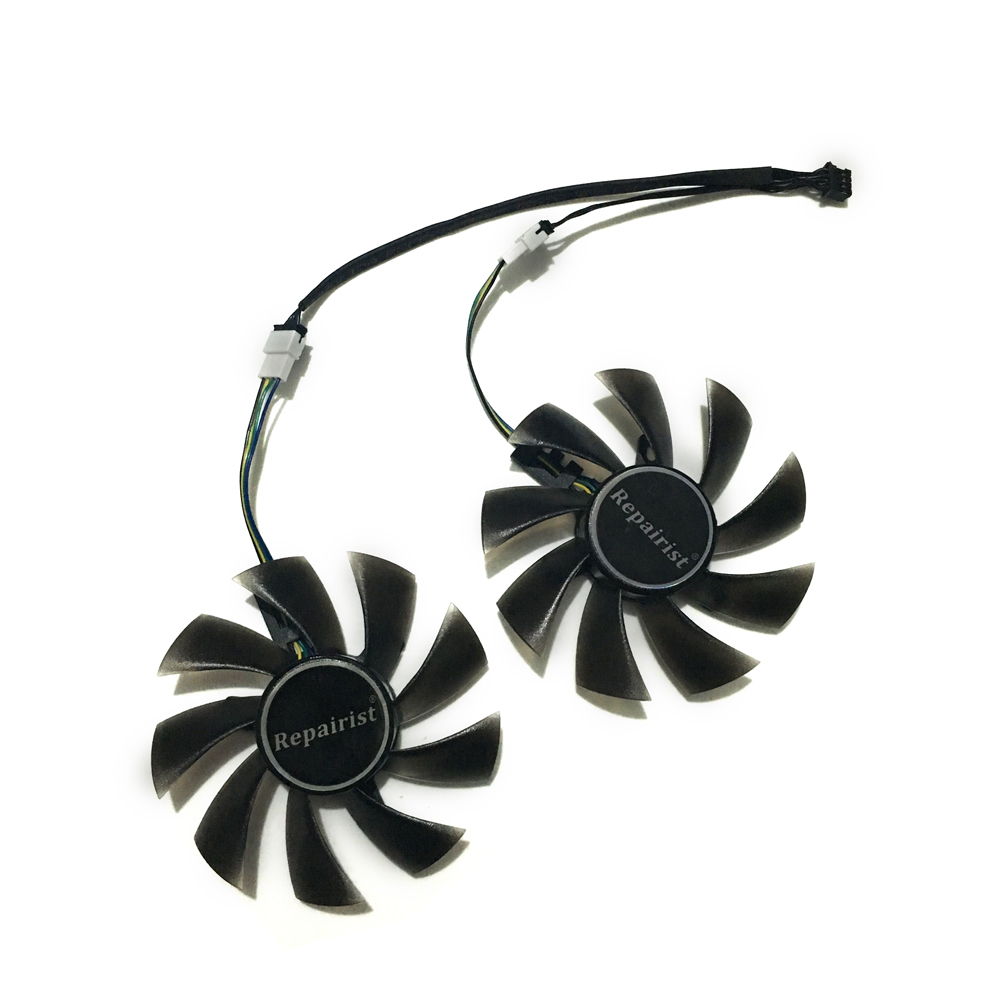 RX 570 GPU VGA Cooler Video Card Fan For Radeon XFX RX570 Rx-570-rs-4gb Graphics Card Just Can Be As Replacement