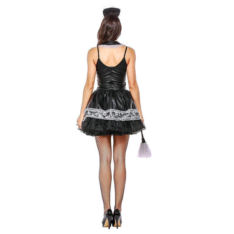 Sexy French Maid Costume Adult Ladies Fantasia Servant Cosplay Waitress Uniform Women Halloween Carnival Fancy Dress Outfit in Holidays Costumes from Novelty Special Use