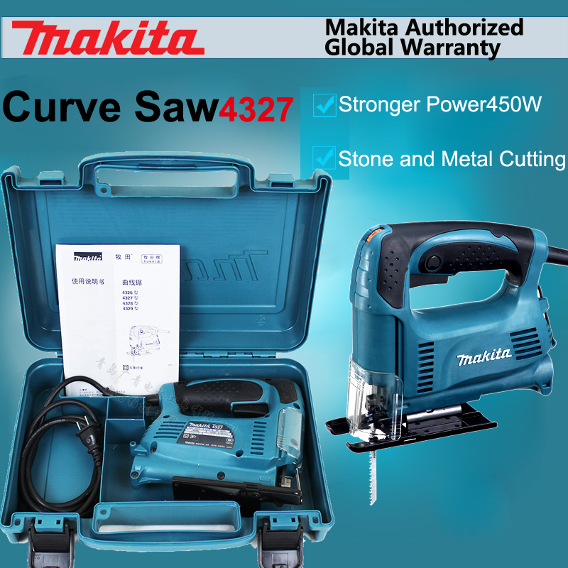 Japan Makita 4327 Curve Saw Electric Speed Control Reciprocating Saw Portable Wood Cutting Wire Sawing Machine 450W 18MM  лобзик makita 4327