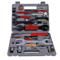 44Pcs Bicycle Tools Sets Maintenance Box Mountain Bike Bicycle Multi Repair Wrench Cycling Chain Rivet Extractor Screwdriver Set