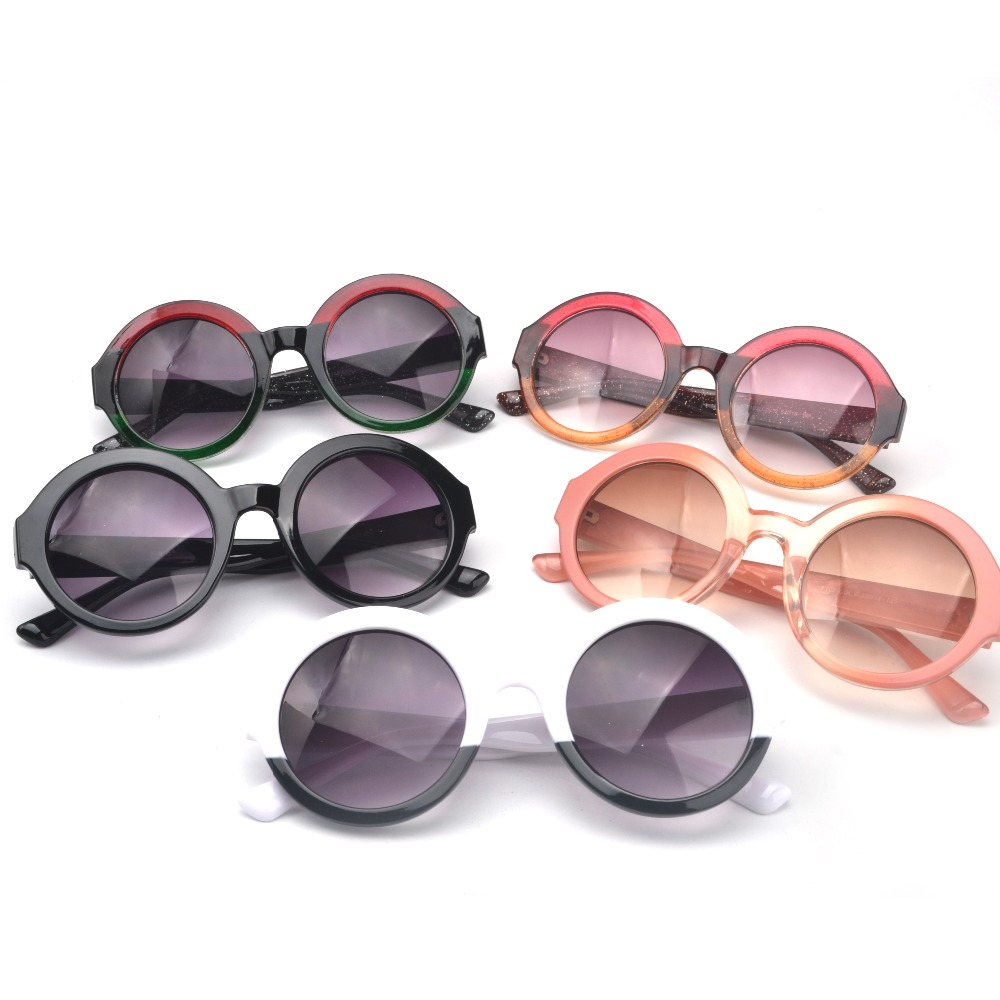 18 new trends mixed colors children glasses sunglasses men and women baby cute gradient round shape sunglasses JW