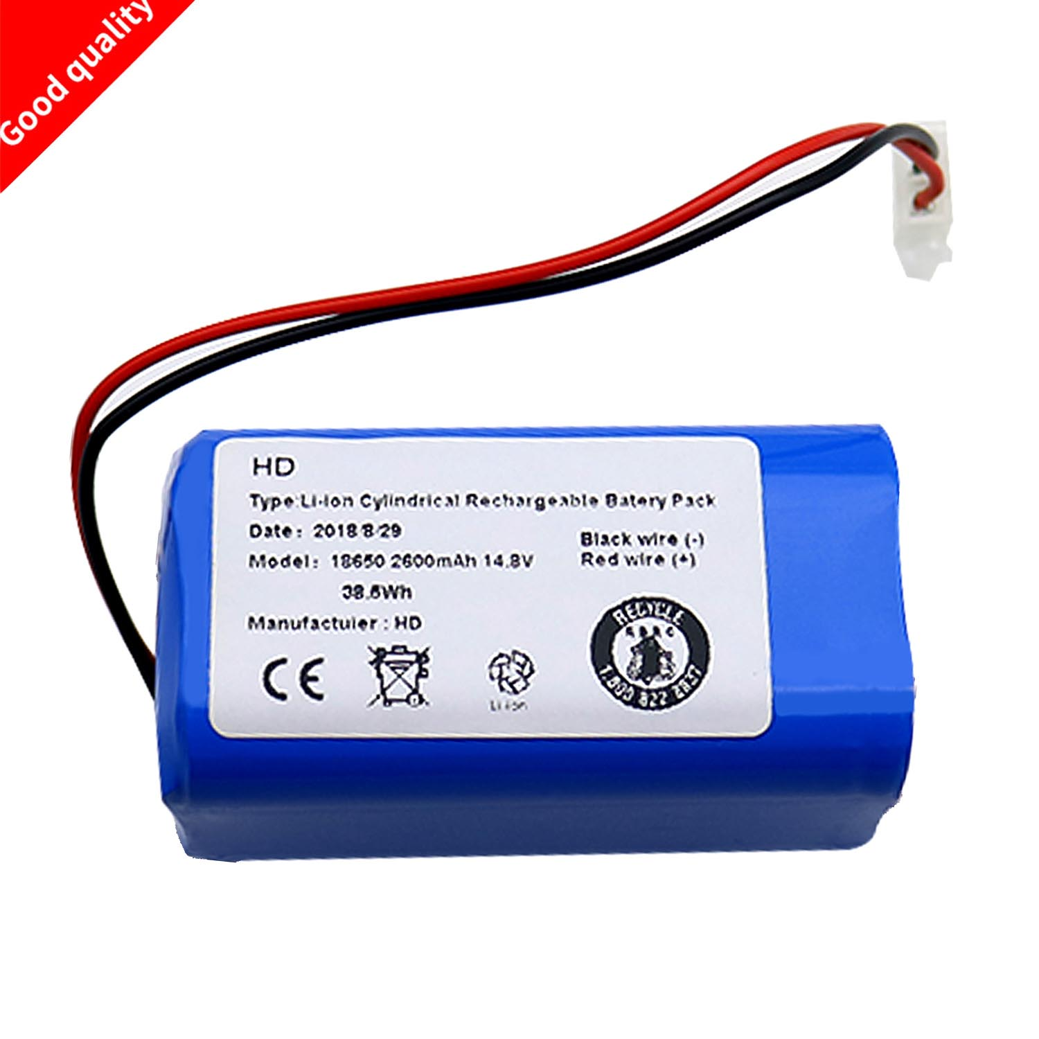 Rechargeable Battery For ILIFE Ecovacs For Chuwi Ilife A4 A4s A6 14.8V 2600mAh Robotic Vacuum Cleaner Accessories Parts