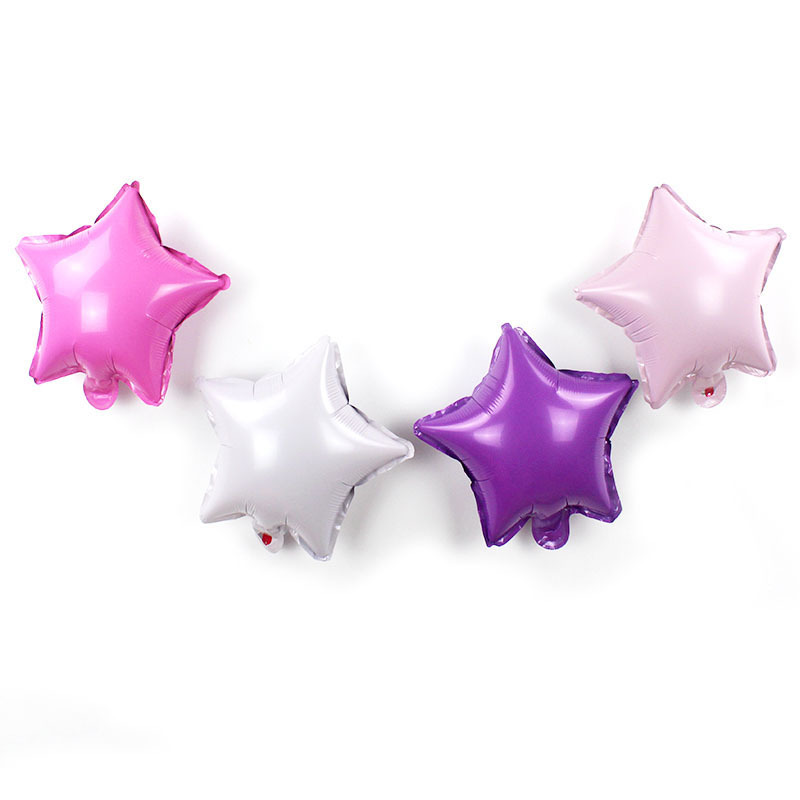 10pcs lot 10inch Pink Purple Star Foil Balloon Birthday Party Inflatable Air Balloons Baby Shower Wedding Decoration Supplies in Ballons Accessories from Home Garden