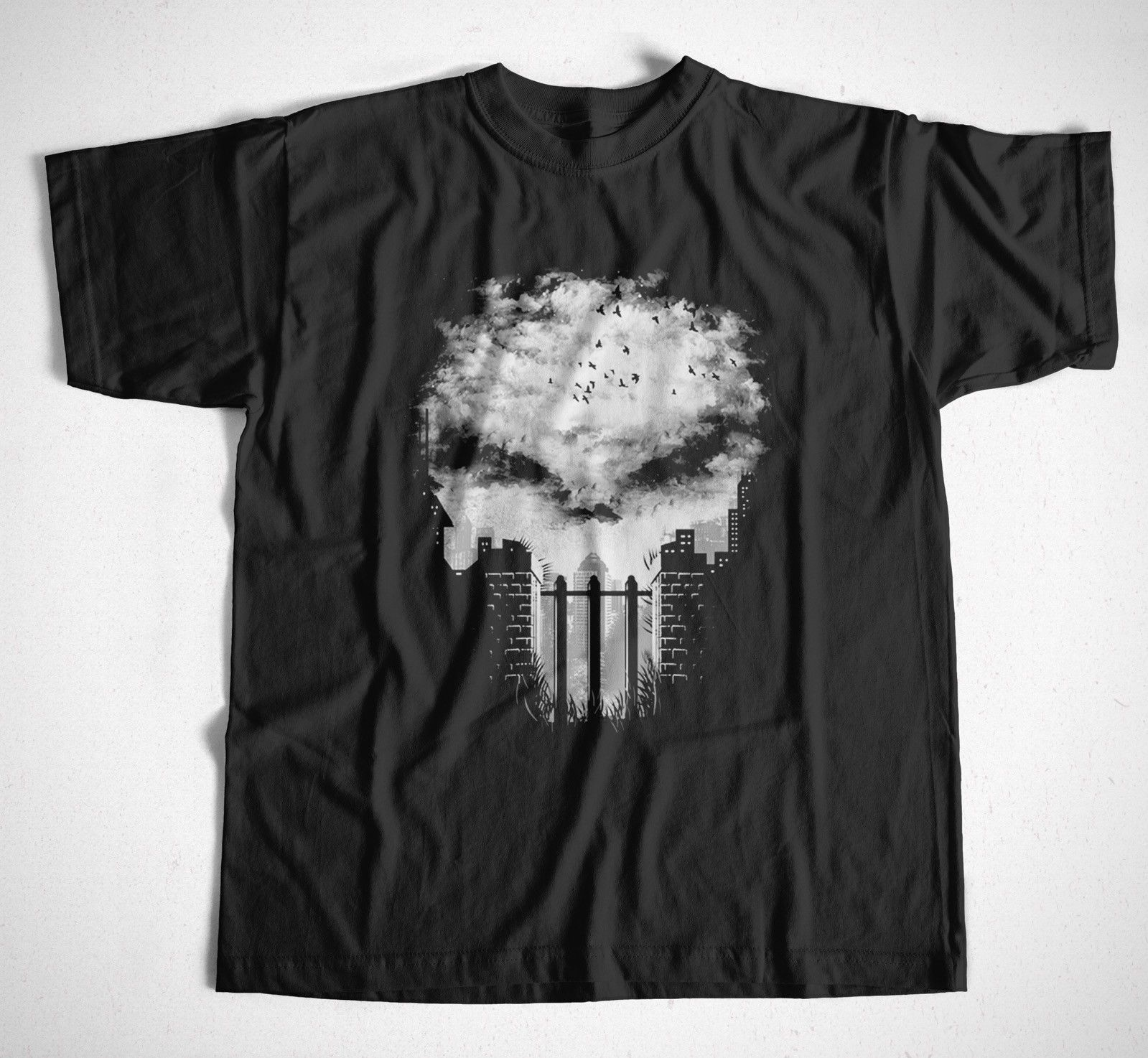 Newest 2019 Men'S Fashion T-Shirt Punisher 1 S-4XL Marvel Comics The Punisher Superheld Skull Totenkopf Summer Style image