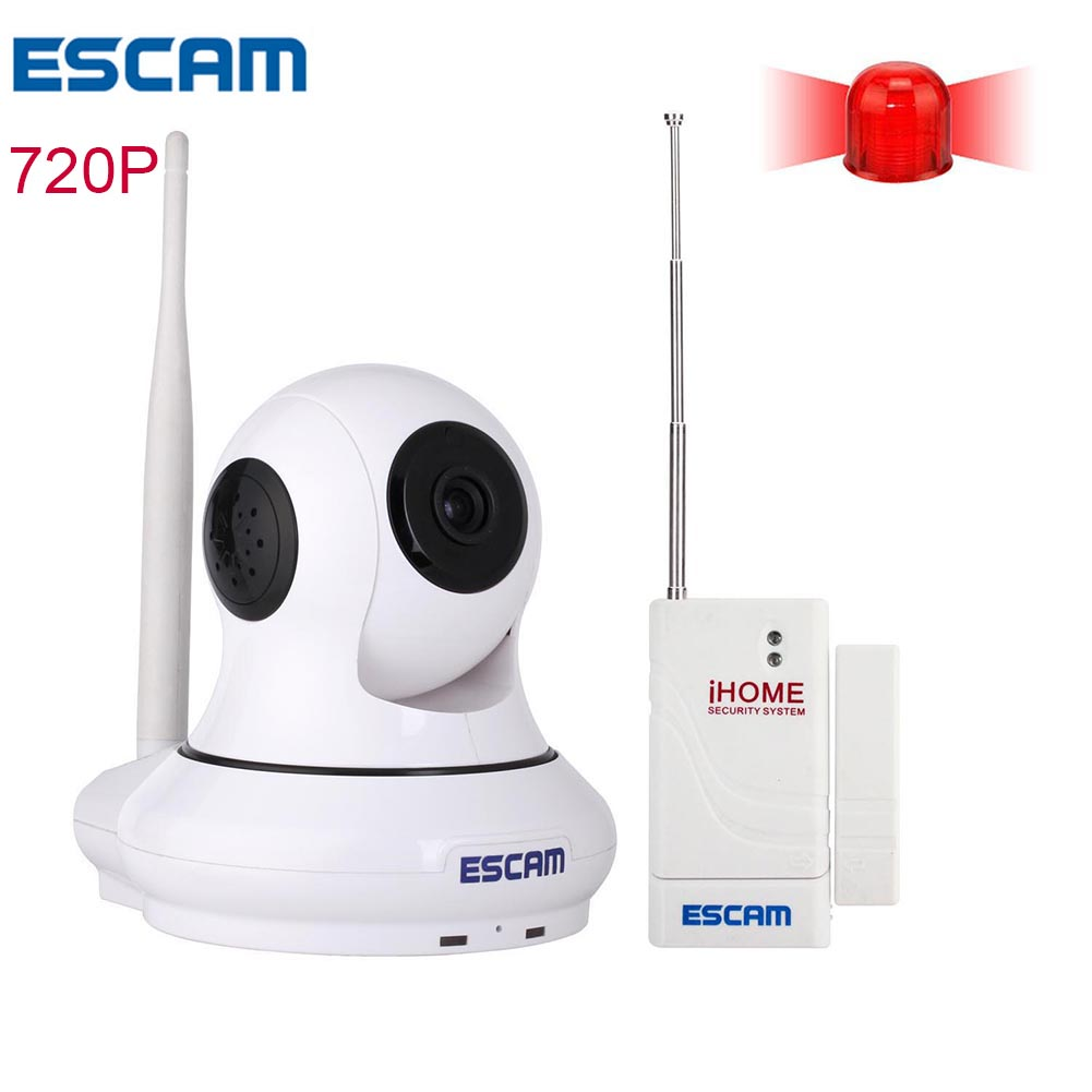 ESCAM IP wireless camera wifi cam HD 720P Pan/Tilt P2P IR-CUT Filter Alarm System Wi-Fi Camera Night Vision Patron QF500 escam hd 720p ir night vision ir cut 1 0mp wireless wifi ip camera pan tilt security mini indoor camera support 32g card qf001