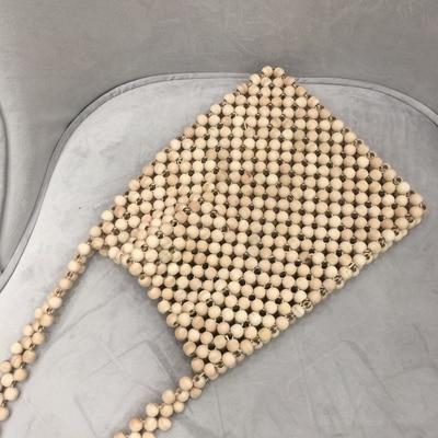 Fashion Wood Bead Messenger Bag Clutch Purse Wallet Handbag for Women Girl Summer Beach Bags Lady