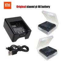 Original Xiaomi Yi 2 4K Battery Pack USB Dual Bateria Charger For XiaoYi 2 4K Xiaomi