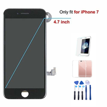 1Pcs For iPhone 7 LCD Full Assembly Complete AAA+ LCD With 3D Touch Screen Replacement Display for iphone 7 LCD Camera factory quality ips lcd display 7 85 for supra m847g internal lcd screen monitor panel 1024x768 replacement
