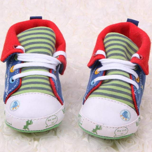 Cute Cartoon Printed Baby Kids High Shoes Casual Anti-Slip Toddler Walk Sneaker 1