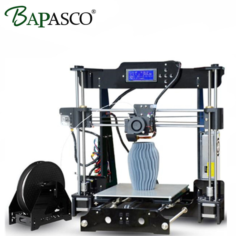 BAPASCO Upgraded Quality High Precision Reprap 3D printer Prusa i3 DIY kit 220*220*210 P802M bowden extruder Auto leveling E3DV5 easy assemble bapasco x5 3d printer kit high precision reprap prusa i3 diy 3d printing machine hotbed 1kg filament sd card lcd