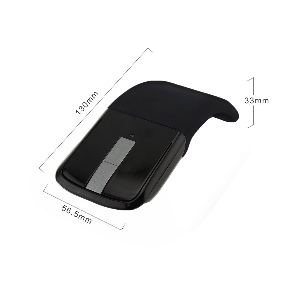 CHUYI Wireless Foldable Bluetooth Mouse Ultra Thin 1600 DPI Optical Arc Touch Mouse Folding Travel Mice With BT CSR 4 0 Adapter in Mice from Computer Office