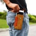 Cool men cintura clipe de bolso casos de telefone para o iphone 6 7 weatern 6 s mais caso 5S se cobrir cadarço anel carteira para samsung j5 s6 s7