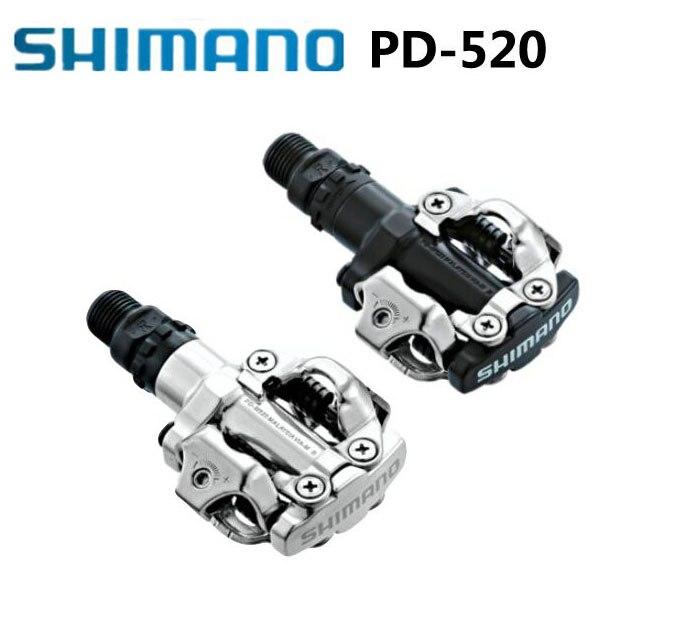 2019 nouveau PD-M520 Shimano pédales de vélo SPD Racing vélo de montagne vtt pédales PD M520 Taquet Plat Auto-Verrouillage Clipless Pièces