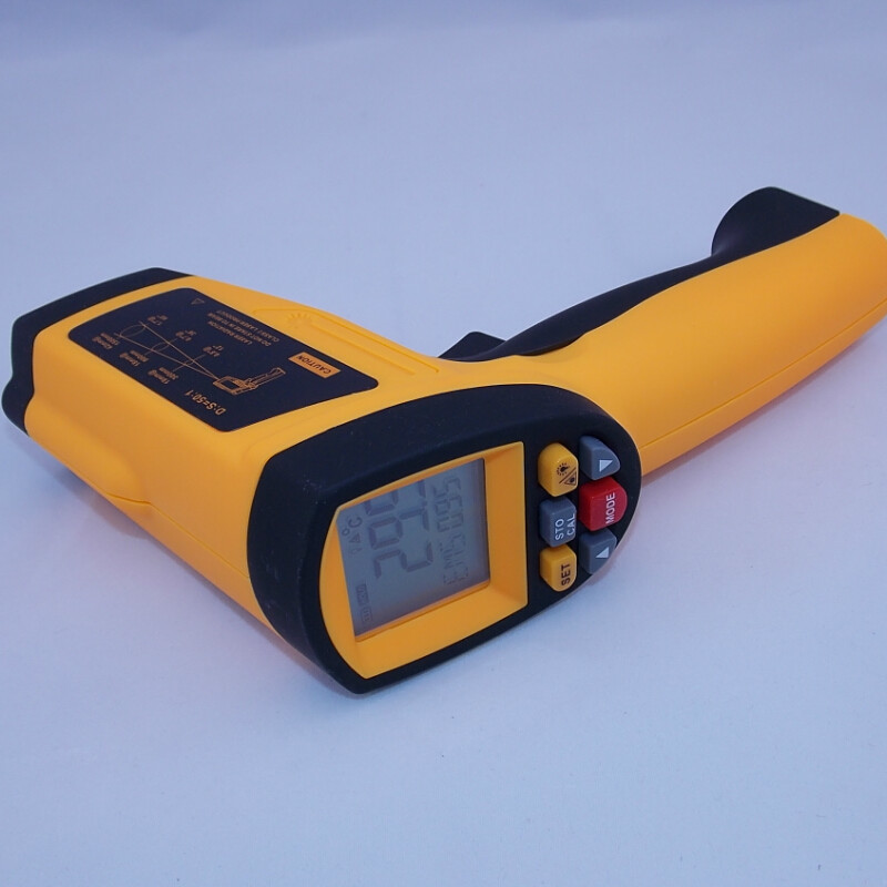 Digital Infrared IR Thermometer Laser Temperature Gun Non-Contact 50:1 with LCD Backlight GM1350 -18~1350C (50:1) mastech ms6530a d s 12 1 non contact infrared thermometer ir temperature gun with laser pointer tester 20c 850c