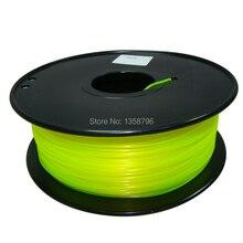 yellow color 3d printer filament PLA ABS 1 75mm 3mm 1kg MakerBot RepRap UP Mendel plastic
