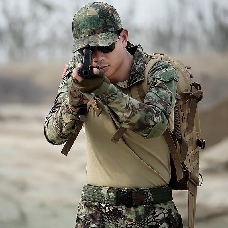 Costume tactique des Forces spéciales militaire Camouflage t-shirts hommes chasseur armée SWAT Spetsnaz actif Camo vêtements tactiques