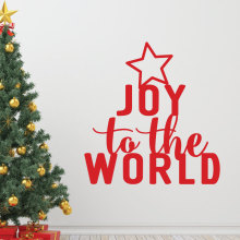 Merry Christmas Tree Joy to the World Quotes Wall Sticker Home Decor Art Vinyl Holiday Decals DIY Removable Room Mural M-217