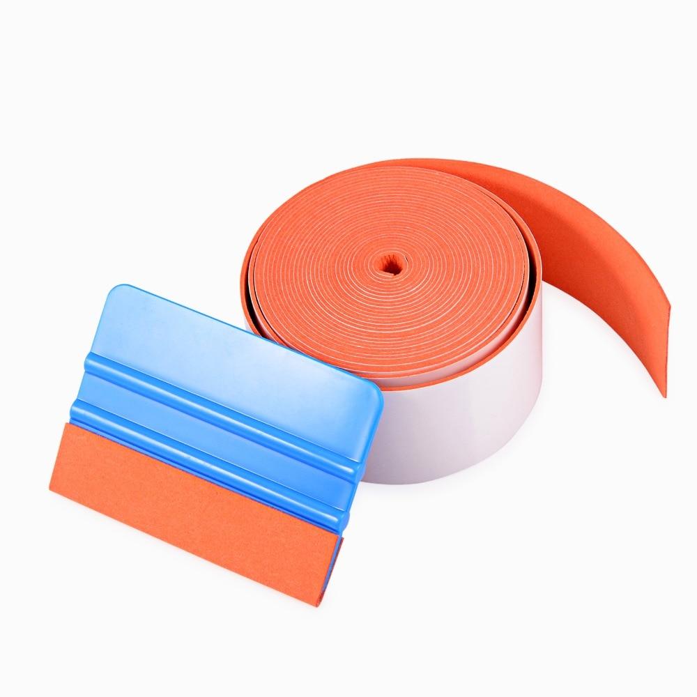 EHDIS 500 cm No cero de paño de fieltro para todos de escobilla de goma vinilo coche herramienta raspador de fieltro borde tinte de ventana herramienta