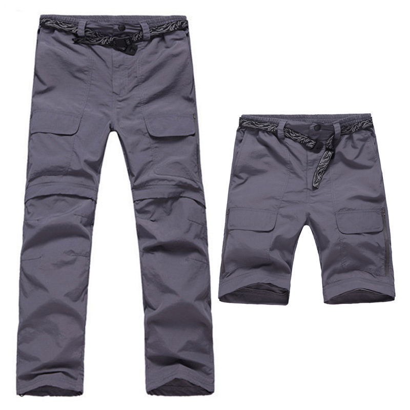 2017 Summer Removable Quick Drying Trekking Pants With Belt Outdoor Breathable Men Trousers Sports Hiking Camping