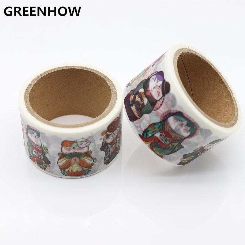 Купить с кэшбэком GREENHOW Daily life Cute cat paper washi tape set Decorative adhesive tape masking tapes Scrapbooking School supplie 9003