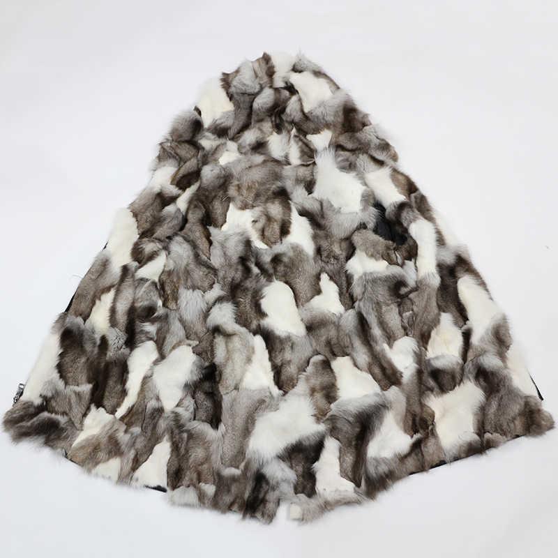 Sadece Kürk Iç Astar Içermez Kürk Yaka Dış Kabuk Gerçek Kürk Ceket Kış Ceket Kadın Tilki Rakun Tavşan vizon Kürk Parka