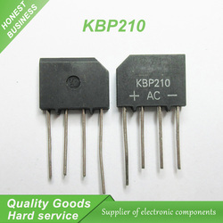 10pcs KBP210 ZIP Bridge Rectifiers 1000V 2A new original