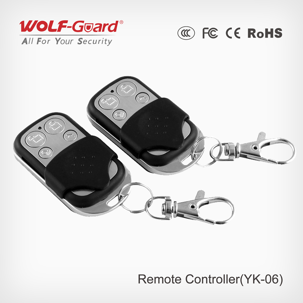 2pcs/lot Wolf-Guard 433MHz Wireless Black Remote Control Keyfobs for Home Alarm Sceurity Burglar System YK-062pcs/lot Wolf-Guard 433MHz Wireless Black Remote Control Keyfobs for Home Alarm Sceurity Burglar System YK-06