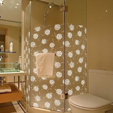 bagno in vetro bianco del fiore della vite vetrofanie bagno tenda da sole traslucido glassato opaco isolamento larghezza 90 cm in bagno in vetro bianco del
