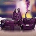 All-Match Women Bag Women Messenger Bags+ Leather Fashion Handbags+Totes+Shoulder+Clutch+Wallets+Key Bags+Wristlets 8 Set/Pcs