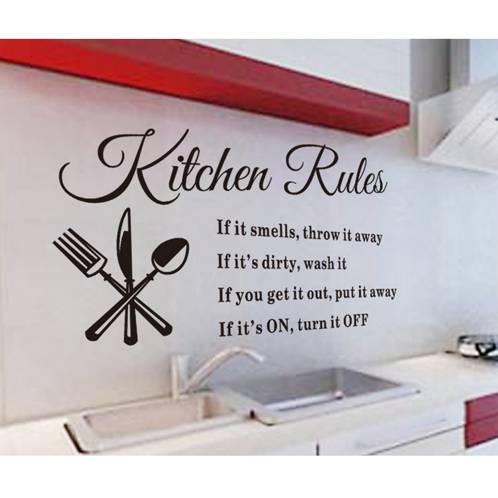 Aliexpress buy iarts kitchen rules wall sticker letter aliexpress buy iarts kitchen rules wall sticker letter features pvc material removable wall decal for home decor decoration from reliable removable amipublicfo Choice Image