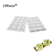 FILBAKE DIY 15 Even Millet Odd Mold Cake Mousse White Silicone Kitchen Baking Candy Molds Accessories