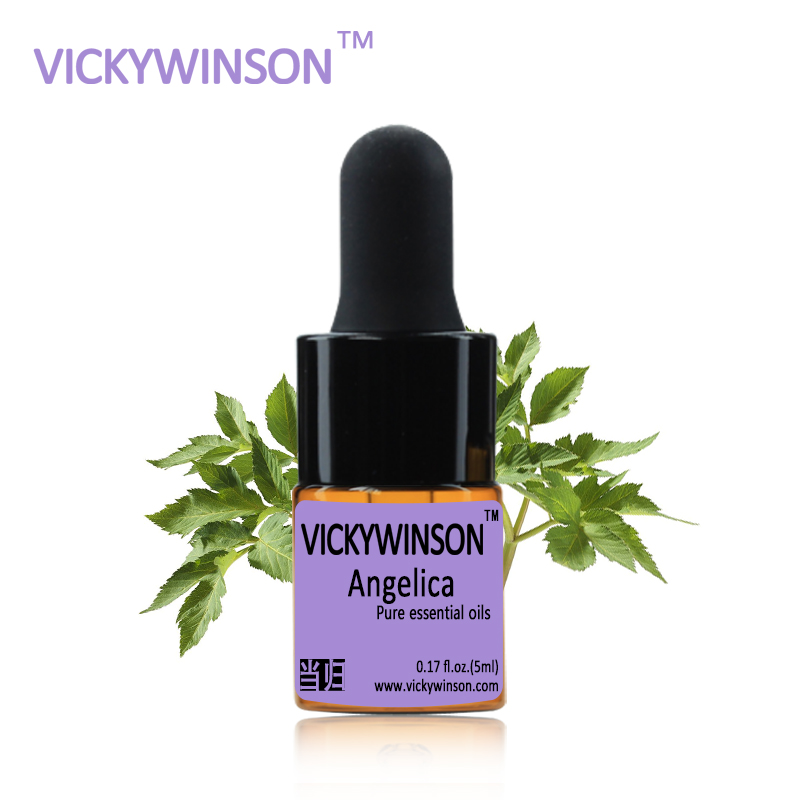 VICKYWINSON Angelica essential oil 5ml natural Dilation blood vessels hepatocyte regeneration WD9