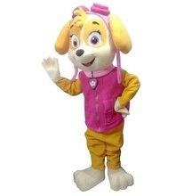 2017 Real fotos Chegada Adulto assecla Traje Da Mascote da mascote do cão Do Cão de patrulha Patrulha Do Traje Da Mascote frete grátis
