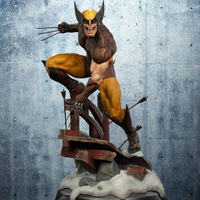 Marvel Wolverine Logan Statue PVC Figure Collectible Model Toy 24cm