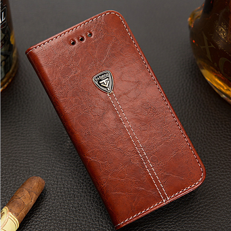 AMMYKI símbolo único de amor de alta calidad flip cuero funda trasera del teléfono 4,7 'para lenovo s650 funda