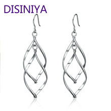 цена на Overlapping Leaves Drop Earrings For Women With Graceful Birthday Engagement Jewelry Simple Dainty Poetically Gift YIE125