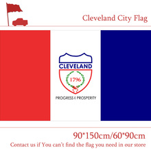 Free shipping US Ohio State 90*150cm 60*90cm Flag Cleveland City Flag 3x5ft High-quality 100d Printing Polyester Banner цена