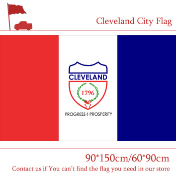 US Ohio State 90*150cm 60*90cm Flag Cleveland City Flag 3x5ft High-quality 100d Printing Polyester Banner image