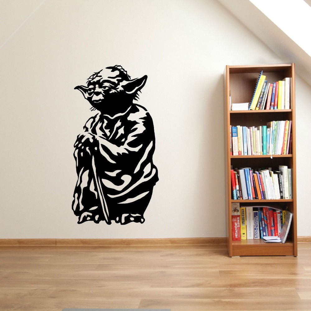 Art Yoda Special Silhouette Wall Decal Home Livingroom Kids Room\ Decor Vinyl Wall Sticker Star War Movie Character PosterW 1077-in Wall Stickers from Home ... & Art Yoda Special Silhouette Wall Decal Home Livingroom Kids Room ...